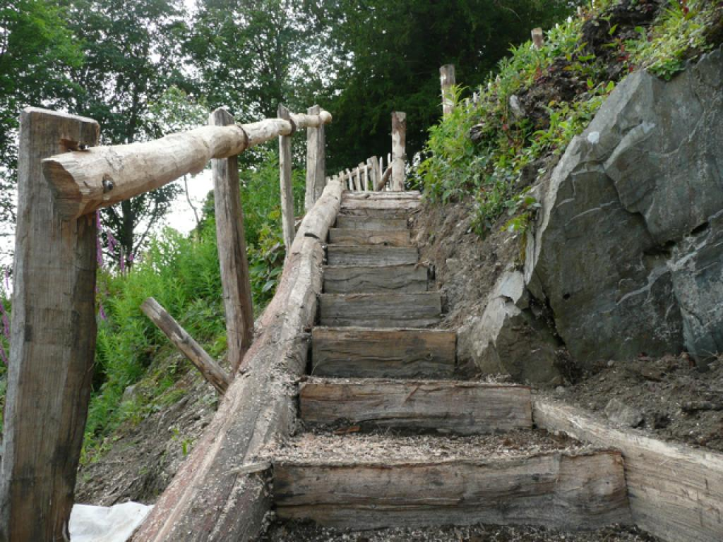 The Natural Outdoor Wooden Steps Taking Shape In Finsthwaite