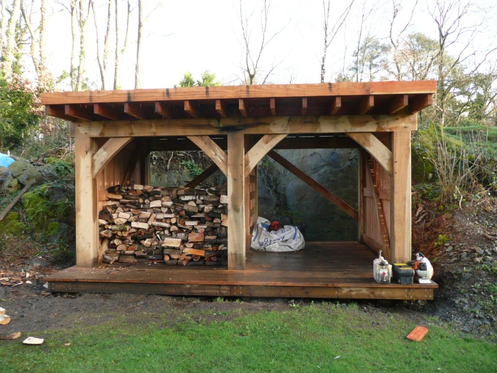 Wonderful A View Of The Almost Complete Oak Frame Timber Shed